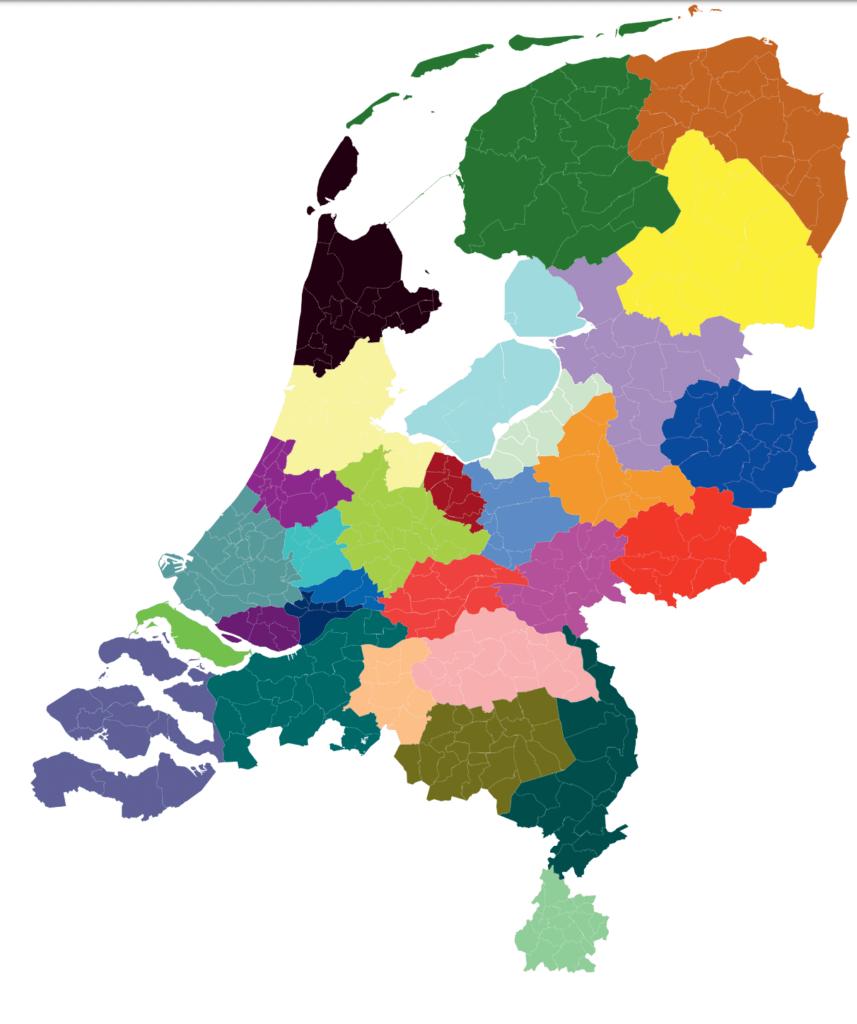 de dertig regios van de energiestrategie